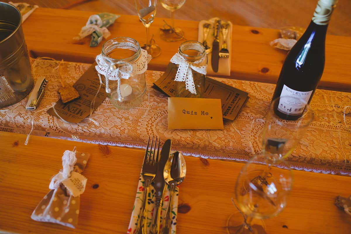 rustic table setting - Sami Tipi Wedding Captured by Camera Hannah
