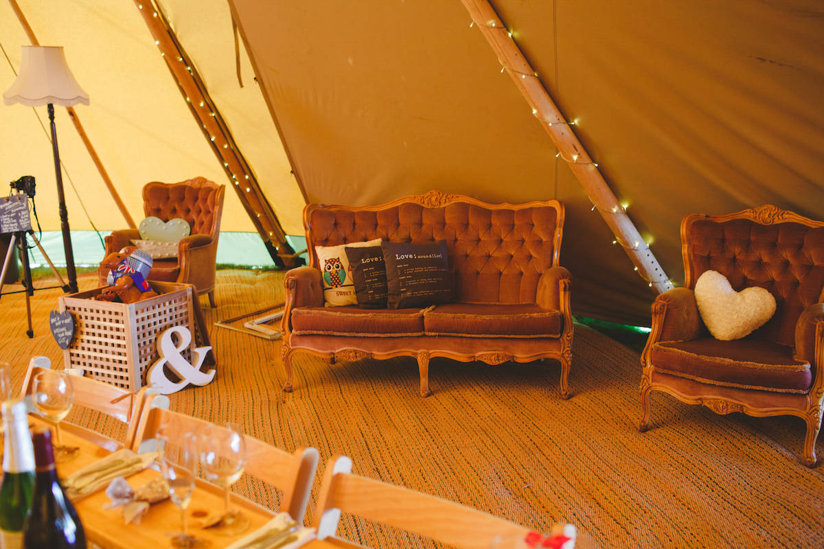 Tipi Chill-Out zone - Sami Tipi Wedding Captured by Camera Hannah