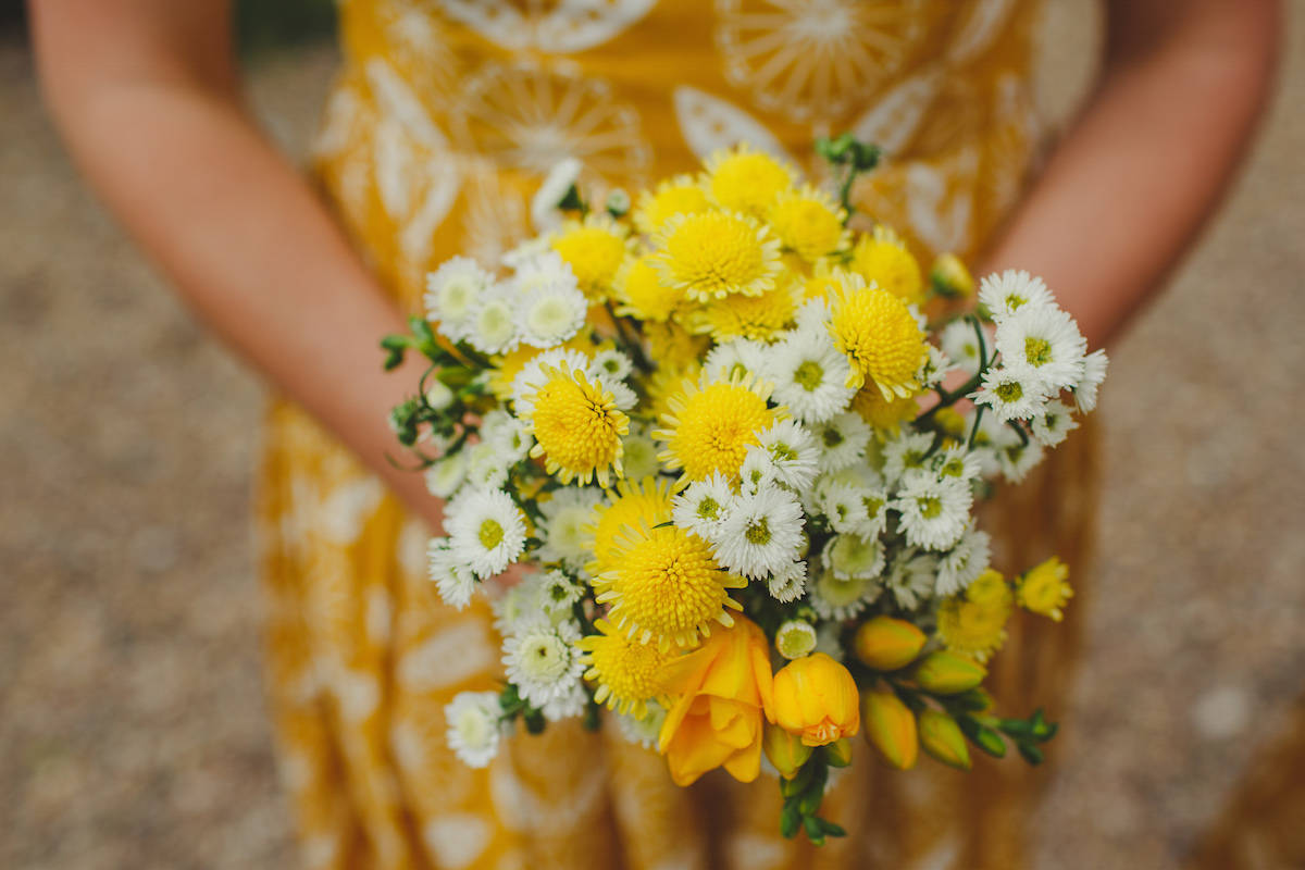 Yellow wedding flowers - Sami Tipi Wedding Captured by Camera Hannah