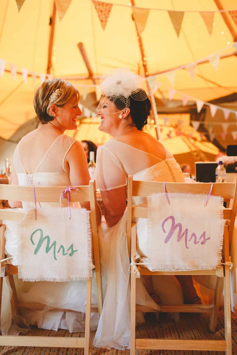 Two Brides Mrs & Mrs - Sami Tipi Wedding Captured by Camera Hannah