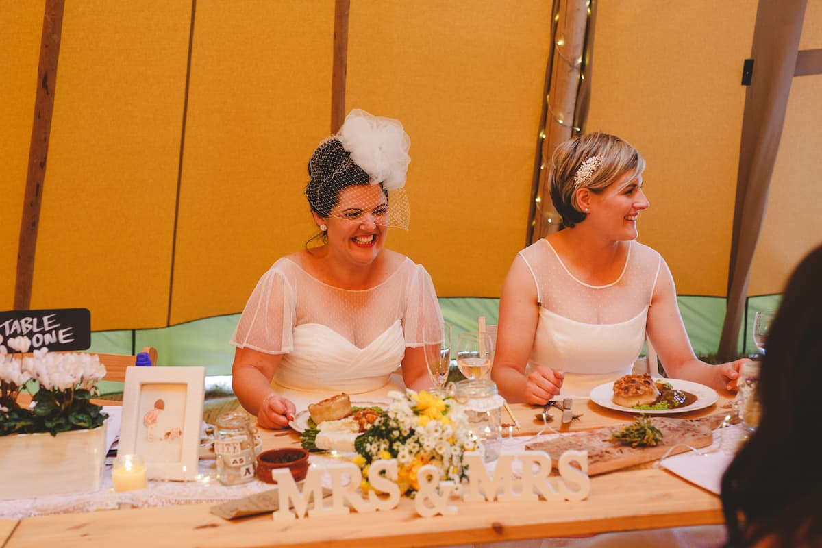 Wedding Food Pie and Mash - Sami Tipi Wedding Captured by Camera Hannah