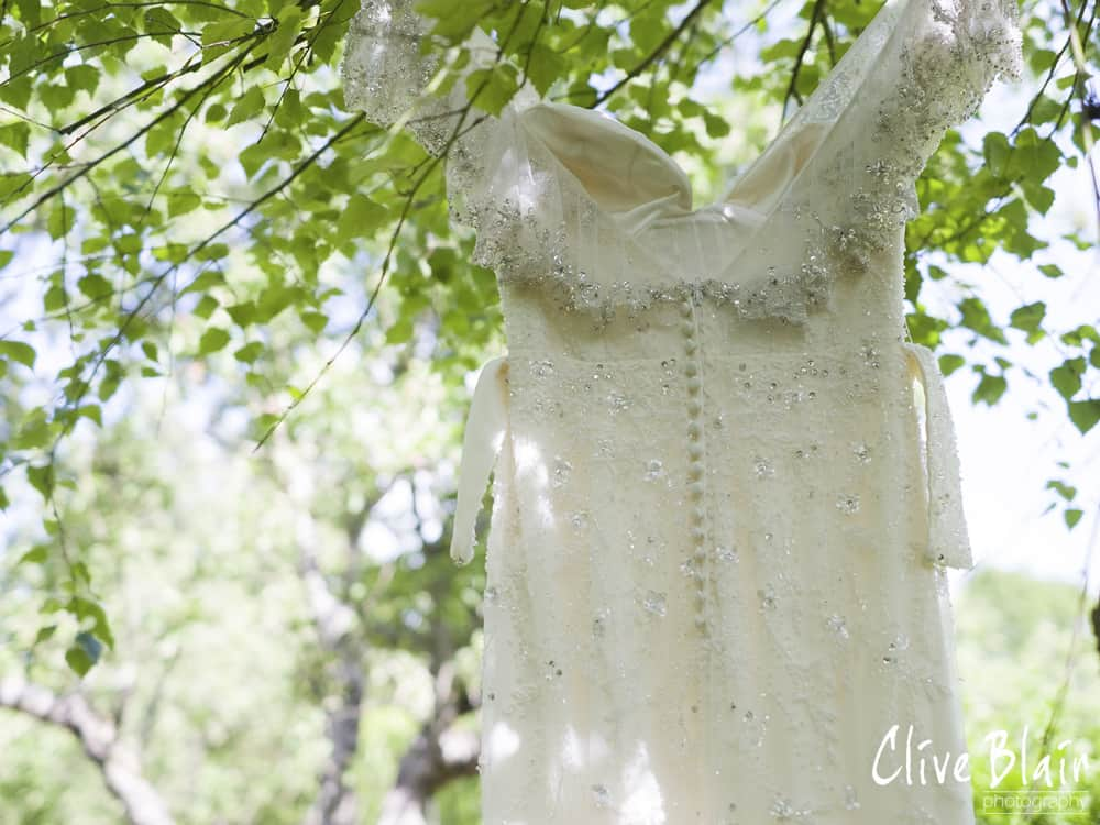 The Dress Detail - Sami Tipi Wedding captured by Clive Blair