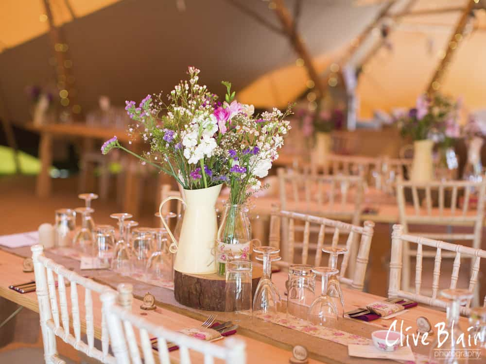 Rustic DIY Table Setting - Sami Tipi Wedding captured by Clive Blair