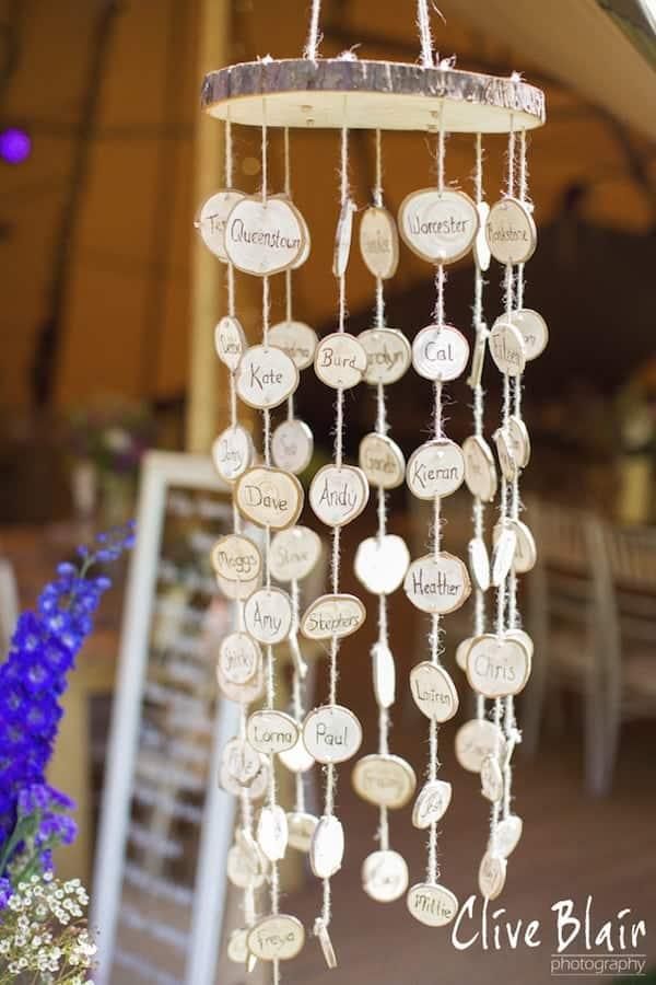 Alternative Seating Plan - Sami Tipi Wedding captured by Clive Blair