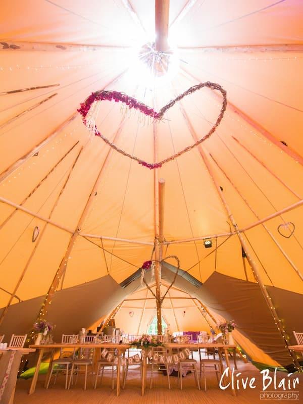 Hanging Decorations - Sami Tipi Wedding captured by Clive Blair