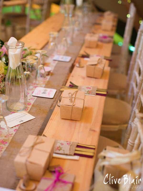 Wedding Favours - Sami Tipi Wedding captured by Clive Blair