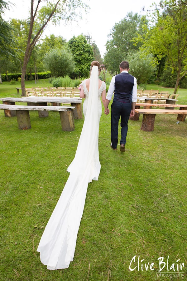 Outdoor Wedding Ceremony The Dress - Sami Tipi Wedding captured by Clive Blair