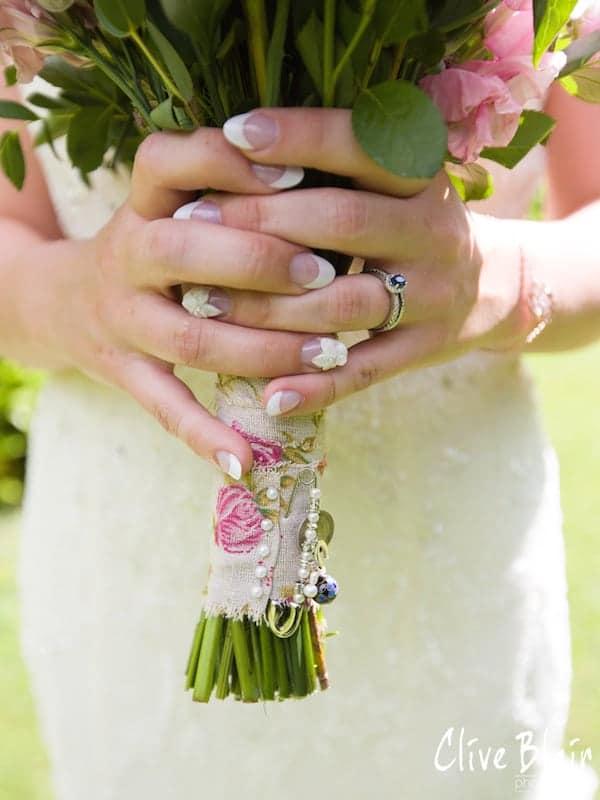 Floral Bouquet - Sami Tipi Wedding captured by Clive Blair