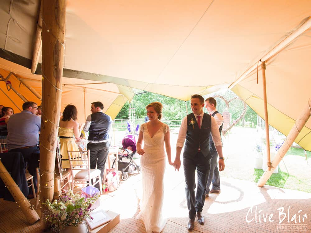 Married - Sami Tipi Wedding captured by Clive Blair