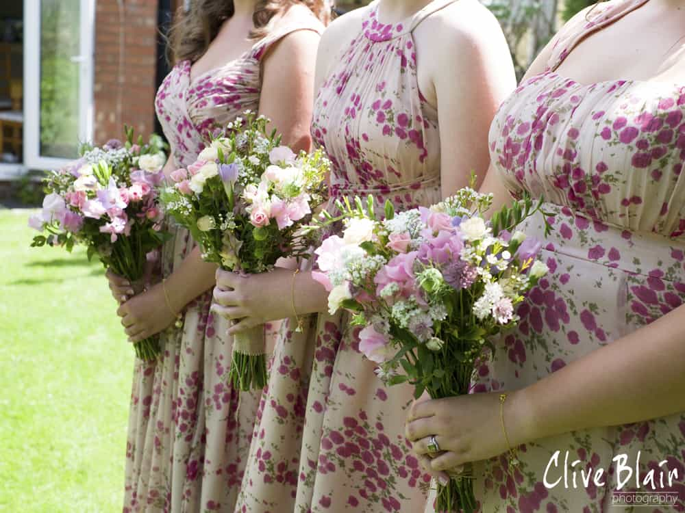 Floral Bridesmaid Dresses and DIY Floral Bouquet - Sami Tipi Wedding captured by Clive Blair