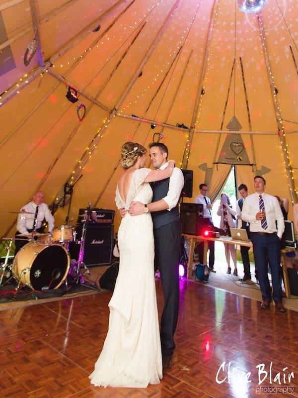 First Dance - Sami Tipi Wedding captured by Clive Blair
