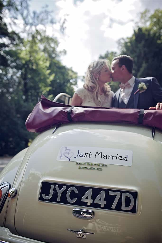 Just married wedding car - Sami Tipi Wedding captured by Shoot it Momma