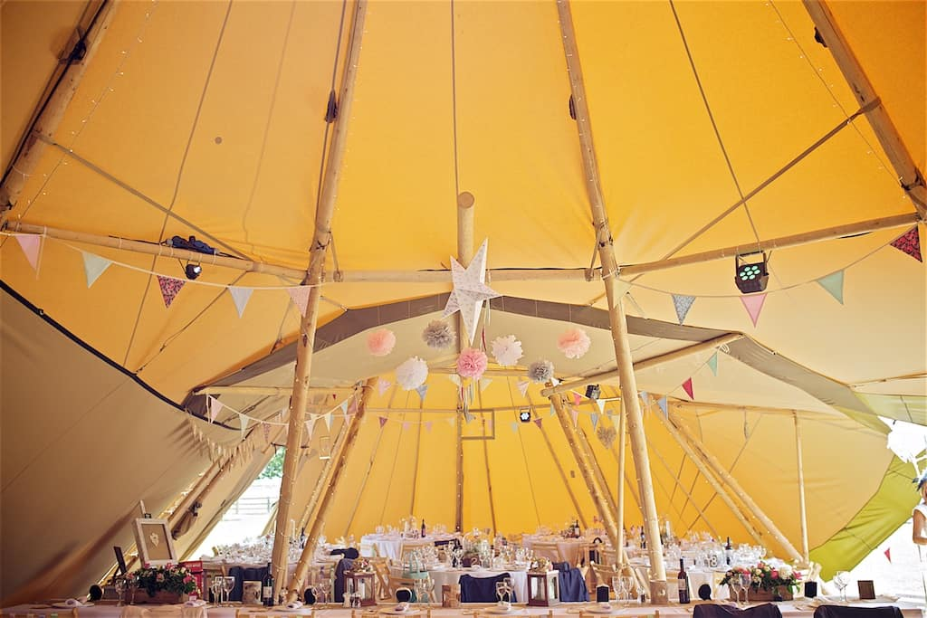 Two Giant Hat Tipis - Sami Tipi Wedding captured by Shoot it Momma