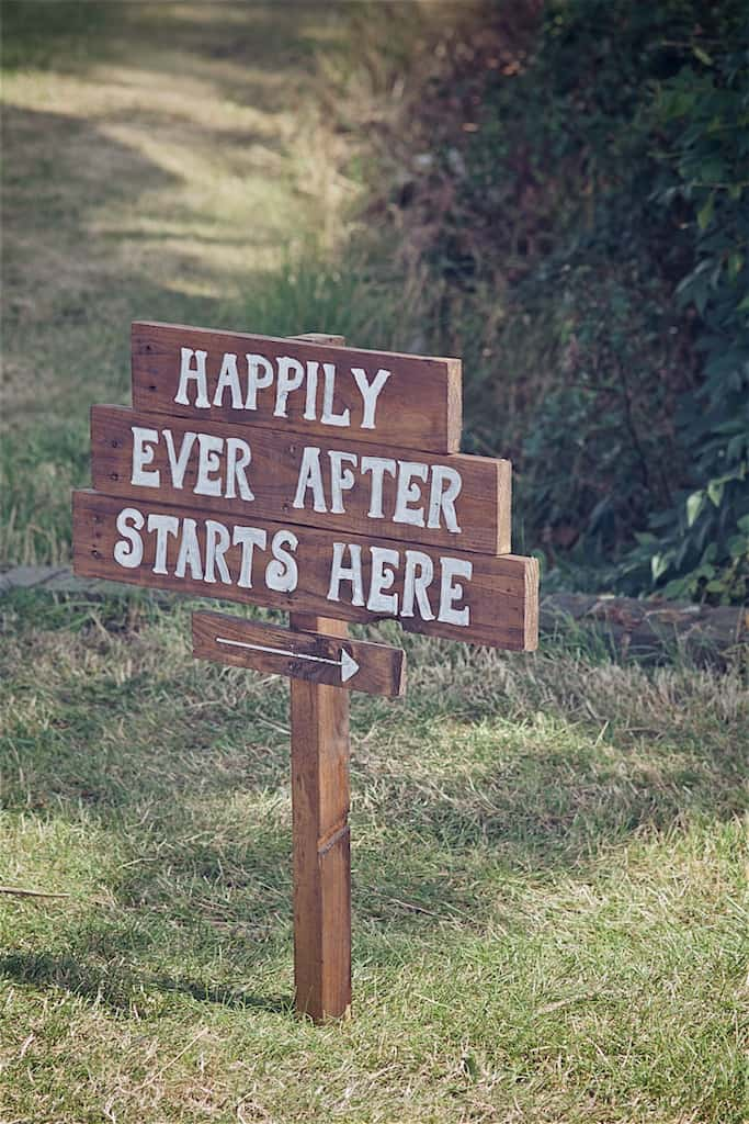 """DIY Wedding Sign """"Happily Every After Starts Here"""" - Sami Tipi Wedding captured by Shoot it Momma"""