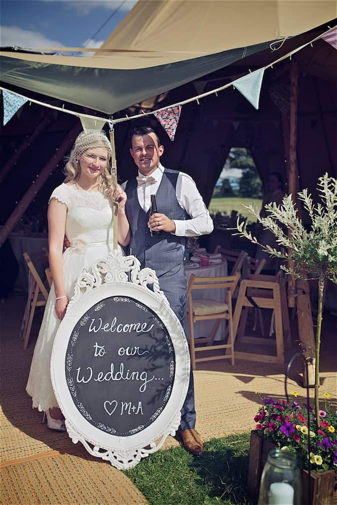Welcome To Our Wedding Sign - Sami Tipi Wedding captured by Shoot it Momma