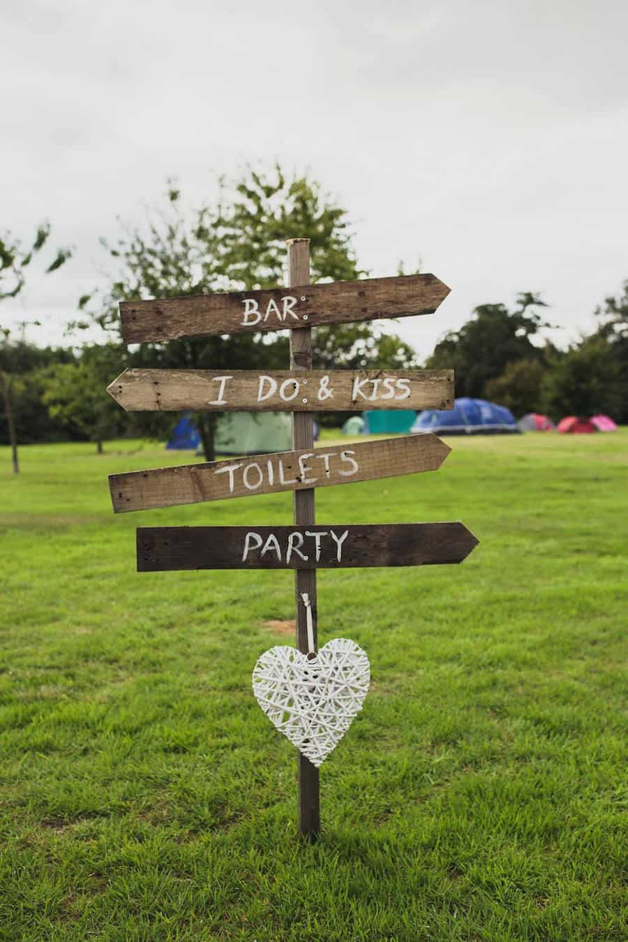 rustic wedding sing - Sami Tipi Wedding at Bawdon Lodge Farm