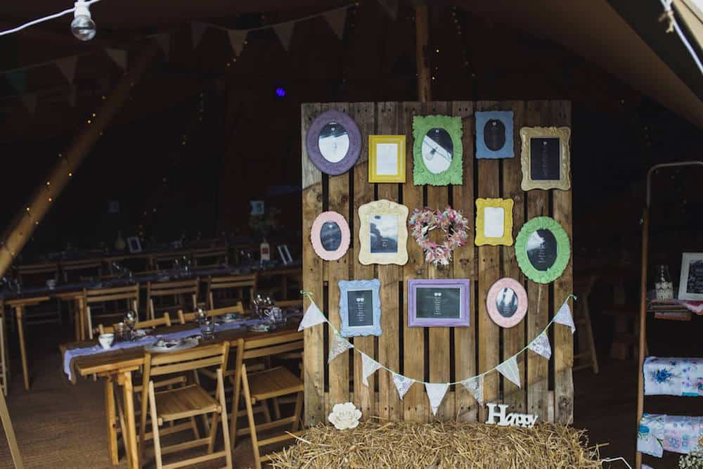 dani and jords seating plan - Sami Tipi Wedding at Bawdon Lodge Farm