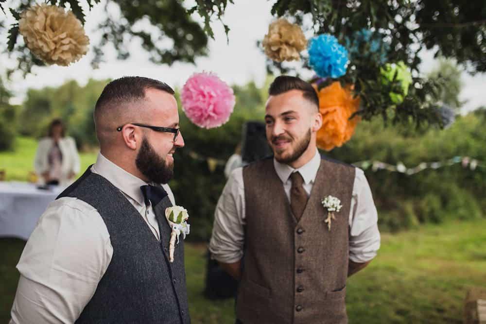 waiting!! outdoor ceremony - Sami Tipi Wedding at Bawdon Lodge Farm