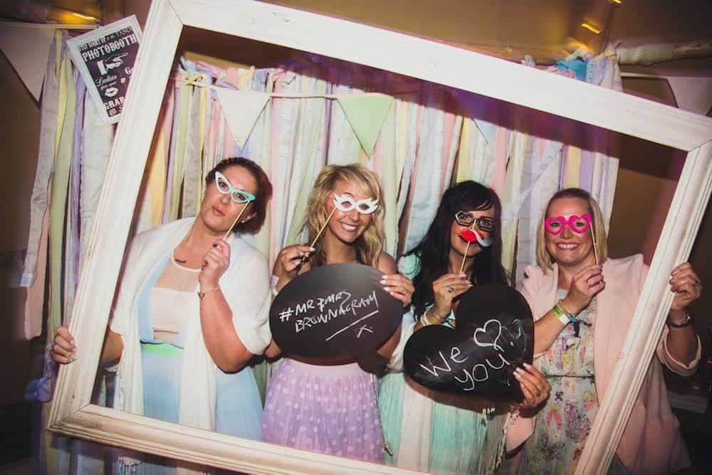 DIY photobooth - Sami Tipi Wedding at Bawdon Lodge Farm