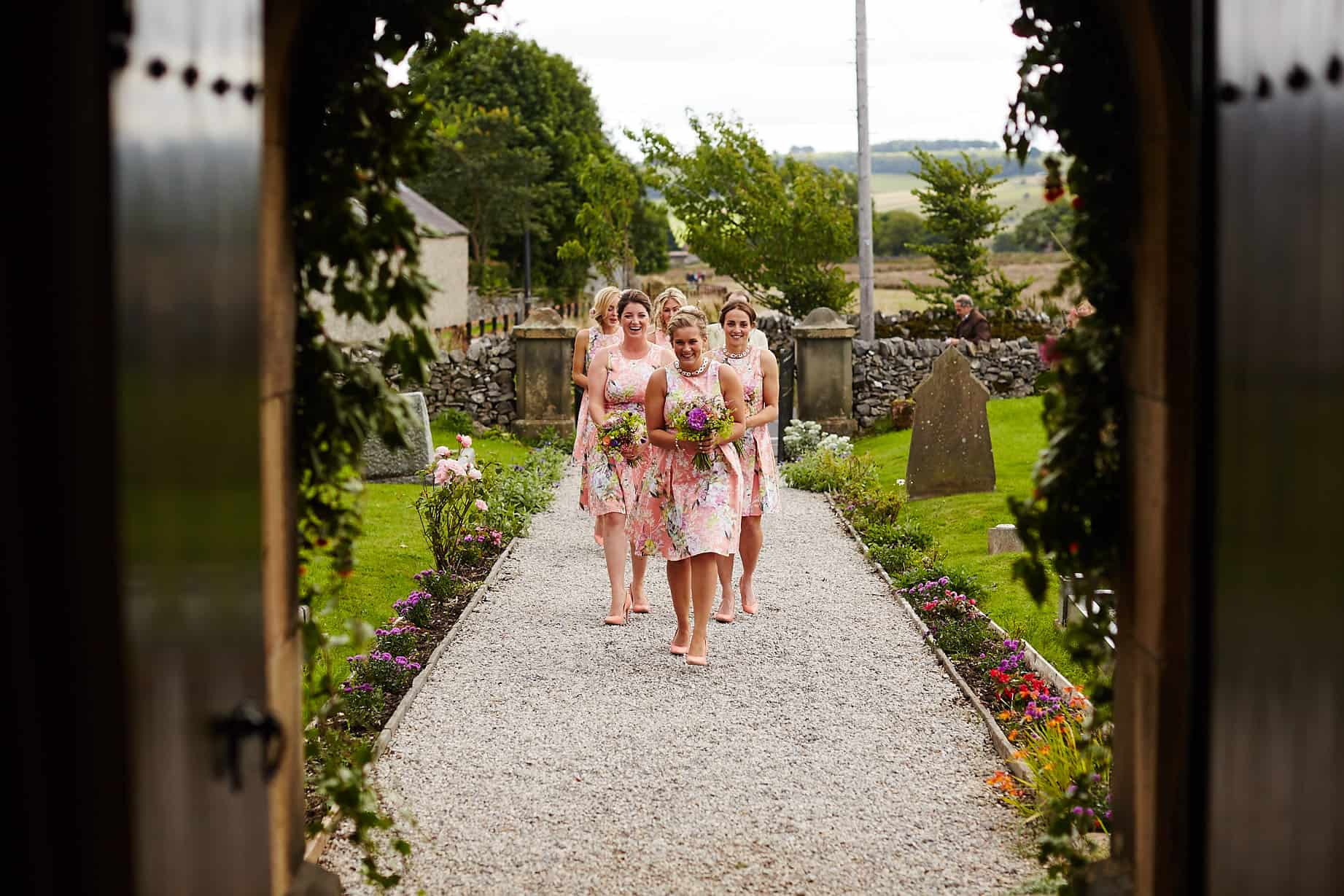 Floral bridesmaid dresses - Sami Tipi Wedding captured by Ben Pollard
