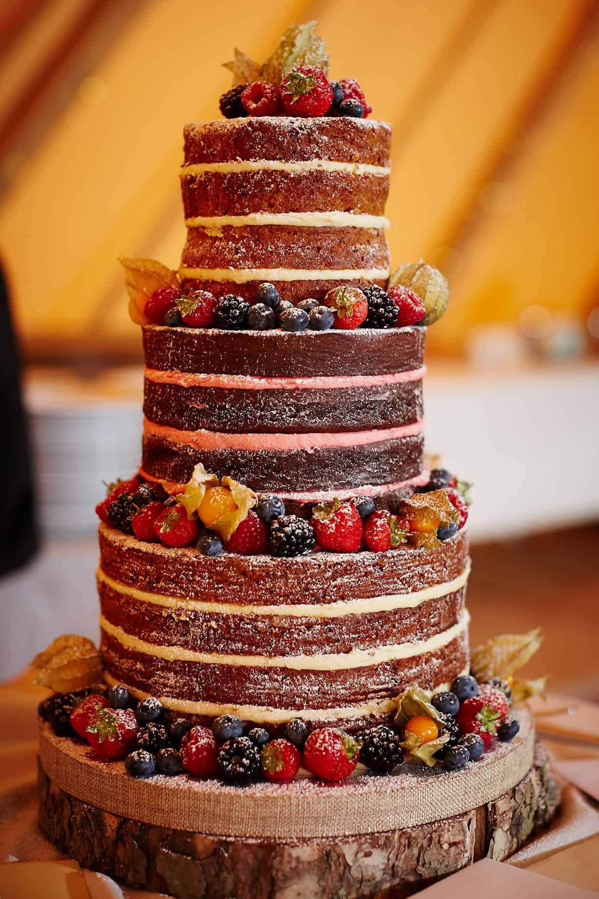 Naked wedding cake - Sami Tipi Wedding captured by Ben Pollard