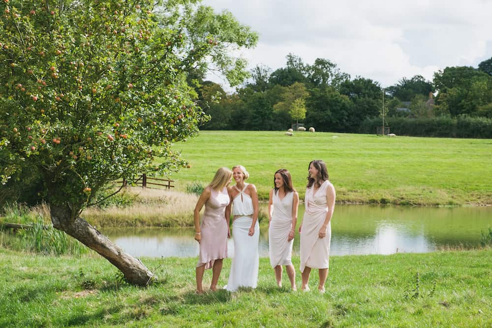 Blush bridesmaid dresses - Sami Tipi Wedding - Captured by Duncan Cox