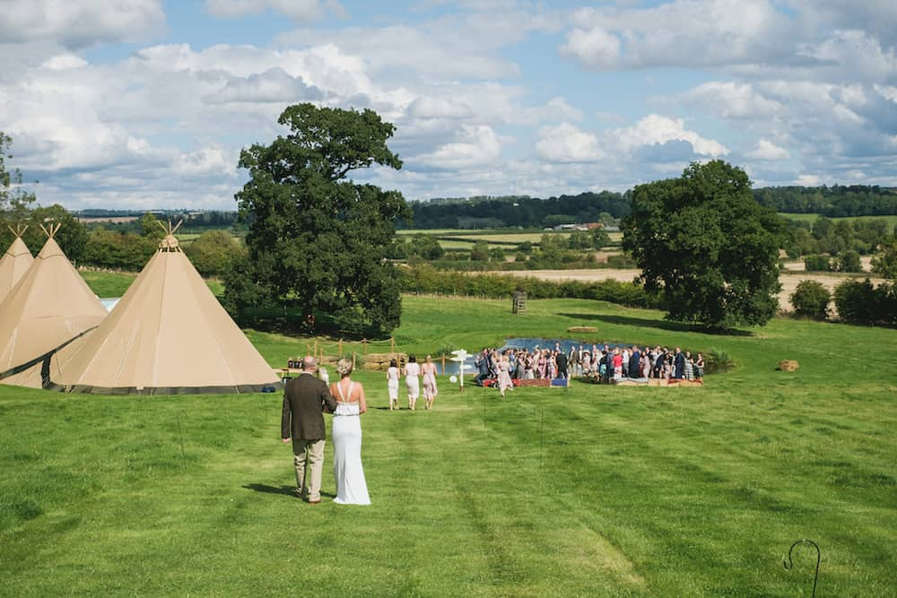 outdoor ceremony - Sami Tipi Wedding - Captured by Duncan Cox