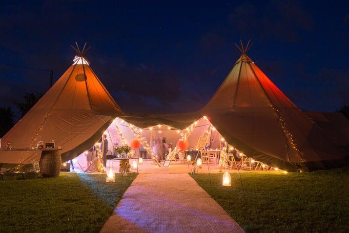 Sami Tipi Wedding at night by Robert Sail