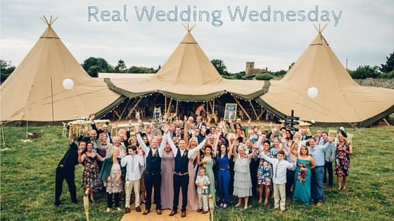 Three Giant Hat Tipi Wedding Celebration