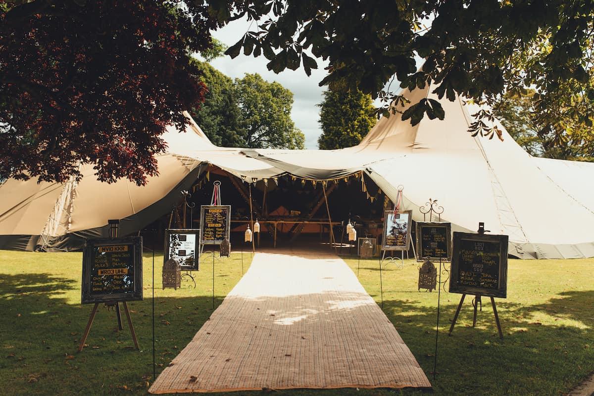 Tipi Walkway - Sami Tipi Wedding Hire captured by Becky Ryan