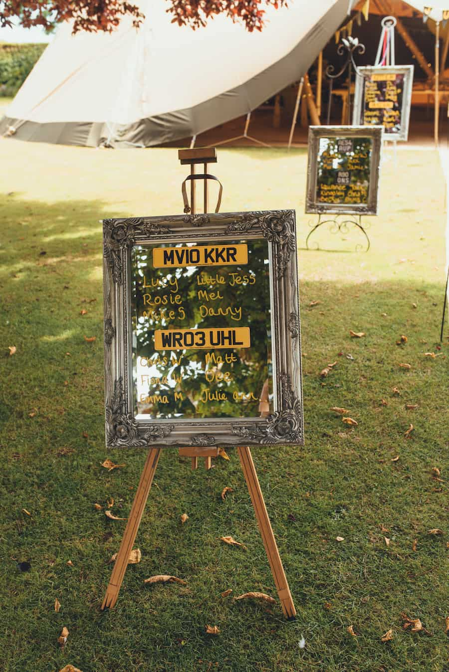 Number plate inspired seating plan - Sami Tipi Wedding Hire captured by Becky Ryan