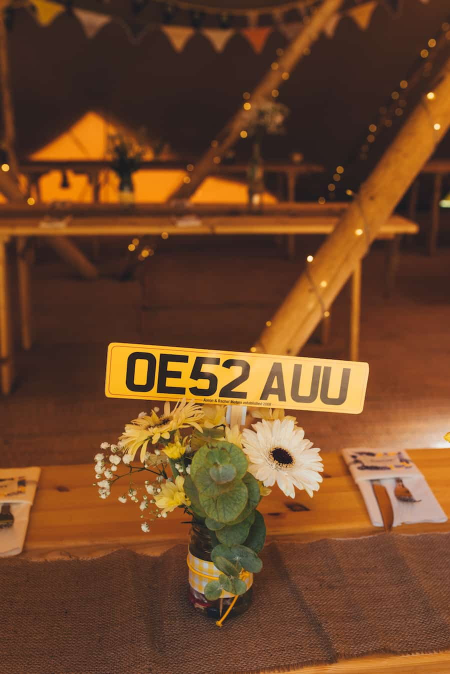 Yellow Styling Detail - Sami Tipi Wedding Hire captured by Becky Ryan