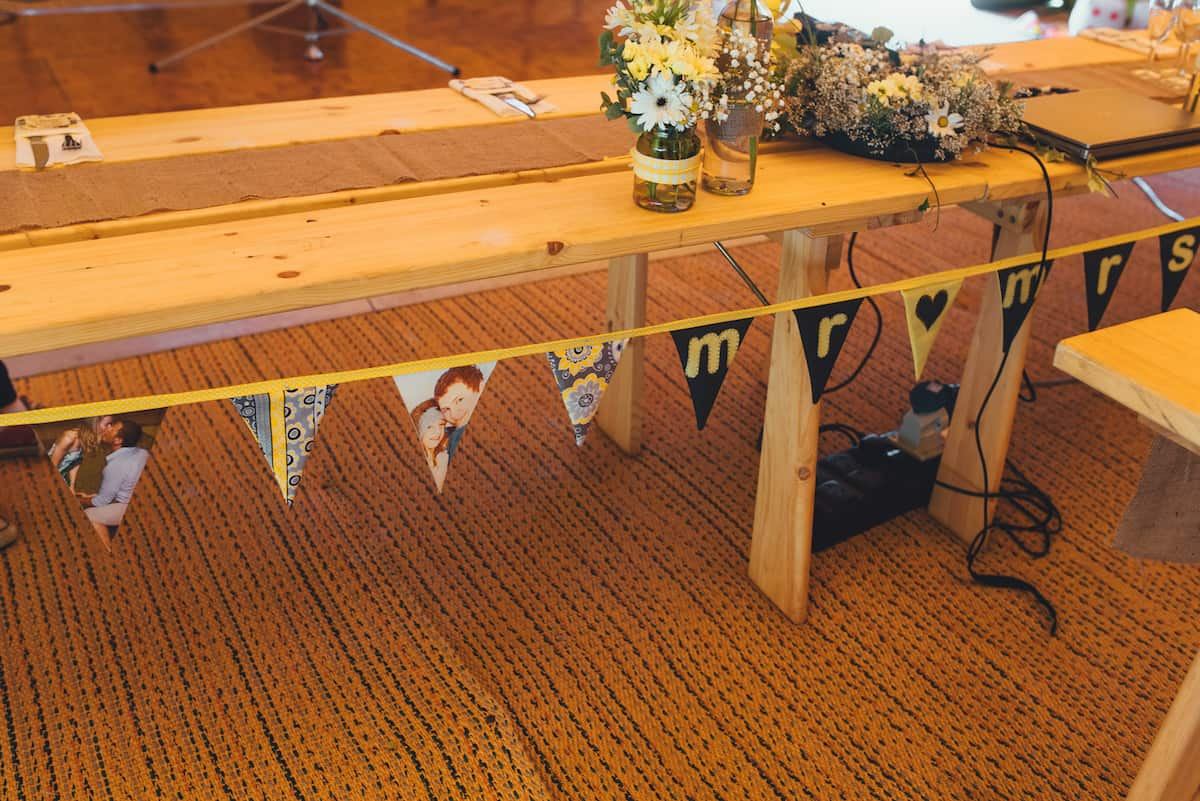 Yellow Styling Detail, internal tipi set up - Sami Tipi Wedding Hire captured by Becky Ryan