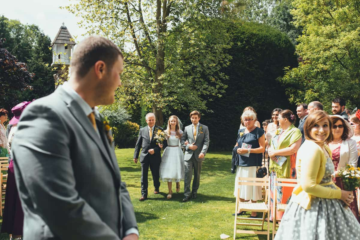 Outdoor Ceremony - Sami Tipi Wedding Hire captured by Becky Ryan