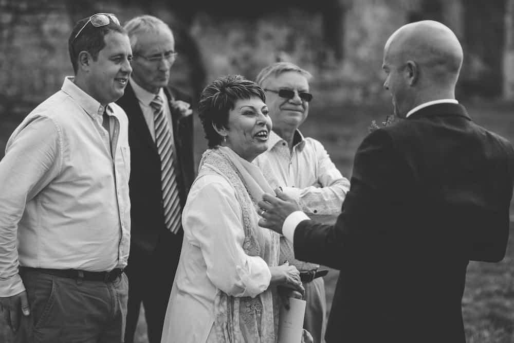 Welcome drinks - Sami Tipi Derbyshire Wedding - captured by Matt Brown Photography