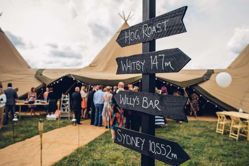 DIY Rustic Wedding Sign - Sami Tipi Derbyshire Wedding - captured by Matt Brown Photography