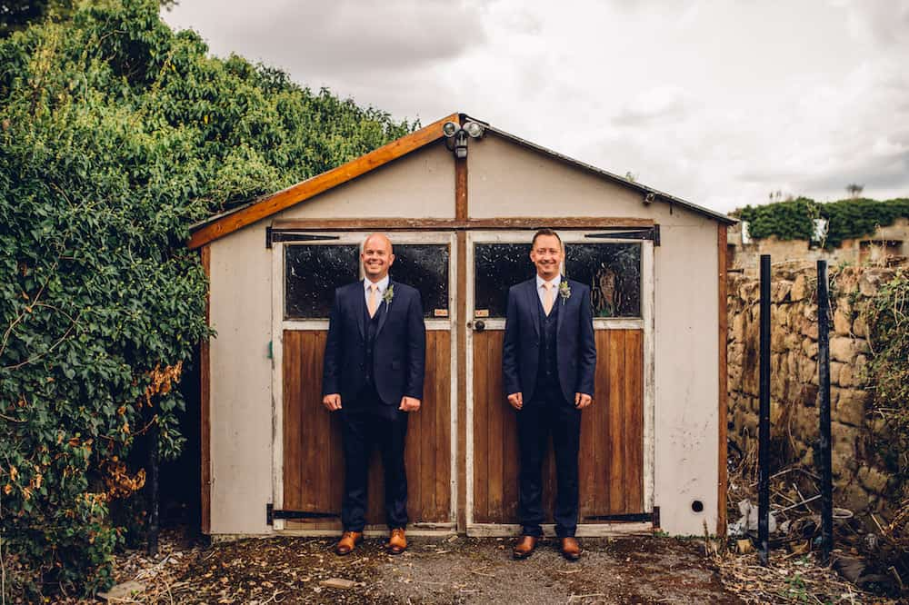 Two Grooms - Sami Tipi Derbyshire Wedding - captured by Matt Brown Photography