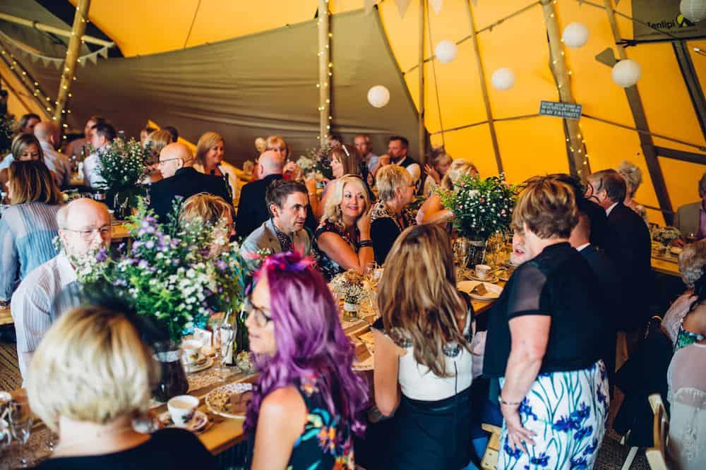 Feeding your wedding guests - Sami Tipi Derbyshire Wedding - captured by Matt Brown Photography