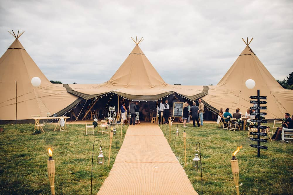 Tipi Entrance - Sami Tipi Derbyshire Wedding - captured by Matt Brown Photography