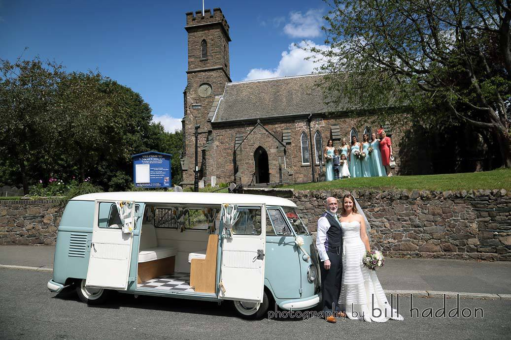 VW Campervan - Sami Tipi Wedding by Bill Haddon Photography -