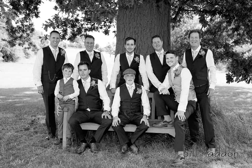 The Boys in front of Bawdon Lodge Farm Oak Tree - Sami Tipi Wedding by Bill Haddon Photography -