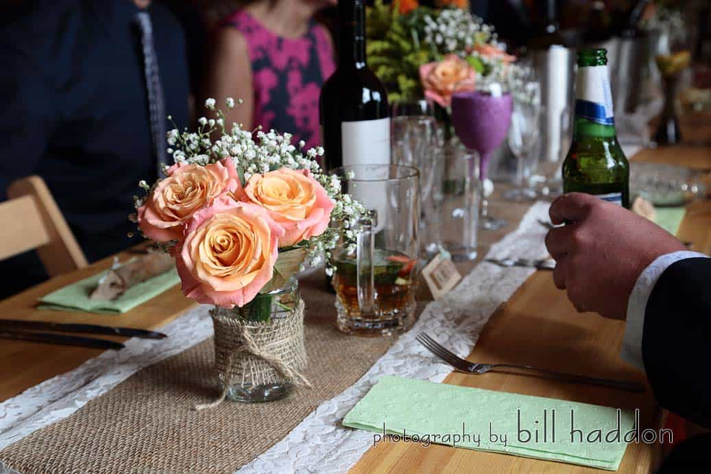 Rustic Table Setting - Sami Tipi Wedding by Bill Haddon Photography -