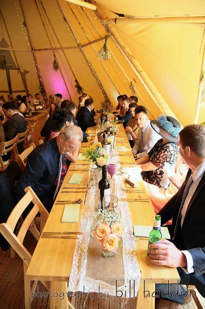 Internal Tipi Setting - Sami Tipi Wedding by Bill Haddon Photography -