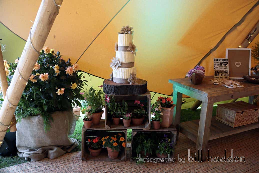 Cake display - Sami Tipi Wedding by Bill Haddon Photography -
