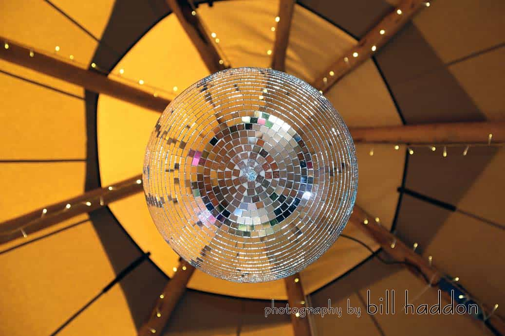 tipi disco ball - Sami Tipi Wedding by Bill Haddon Photography -