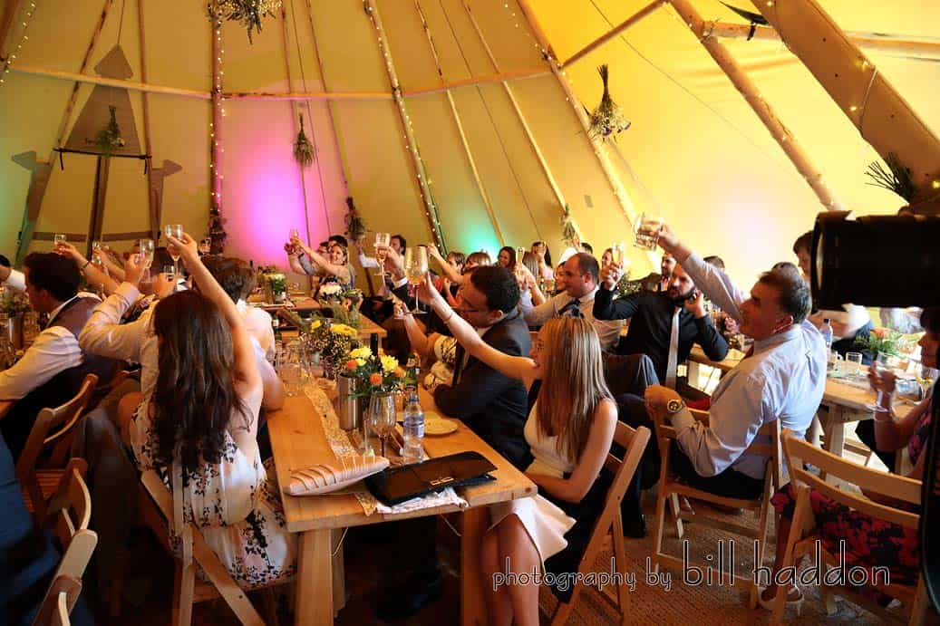 wedding speeches and tipi seating - Sami Tipi Wedding by Bill Haddon Photography -