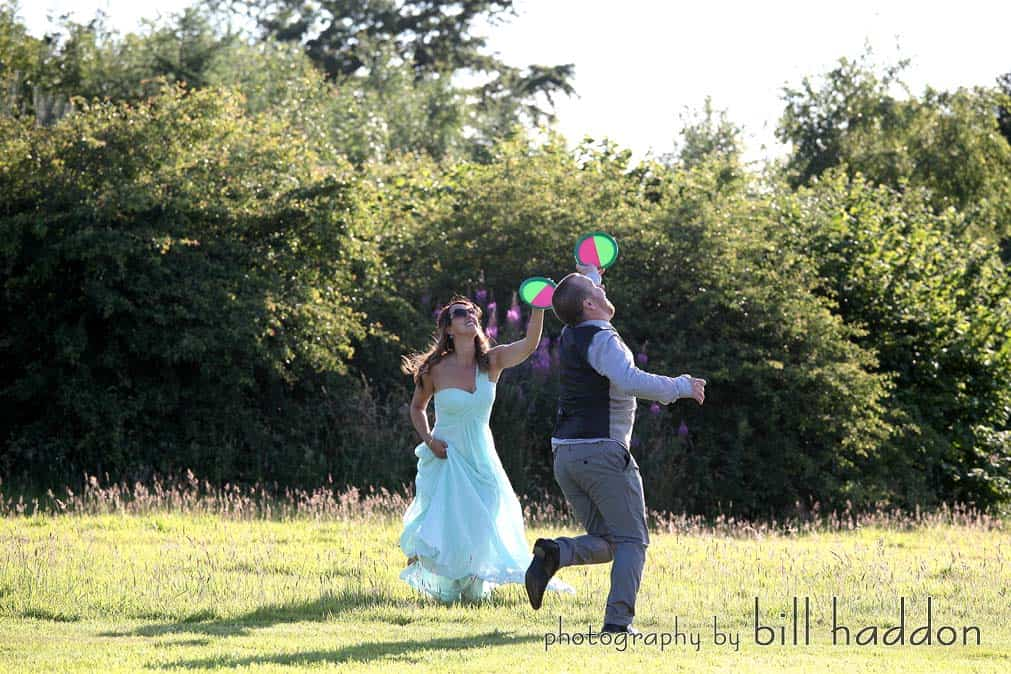 outdoor wedding fun and games - Sami Tipi Wedding by Bill Haddon Photography -