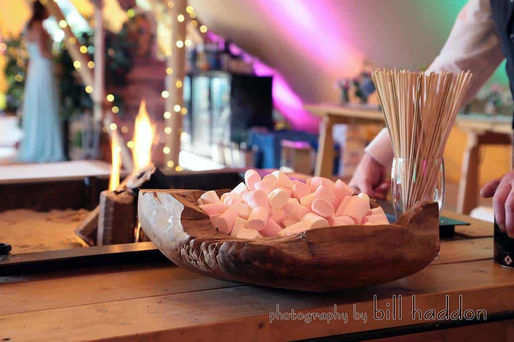 Two Giant Hat Tipis Summer Wedding real flame open fire place - Sami Tipi Wedding by Bill Haddon Photography -