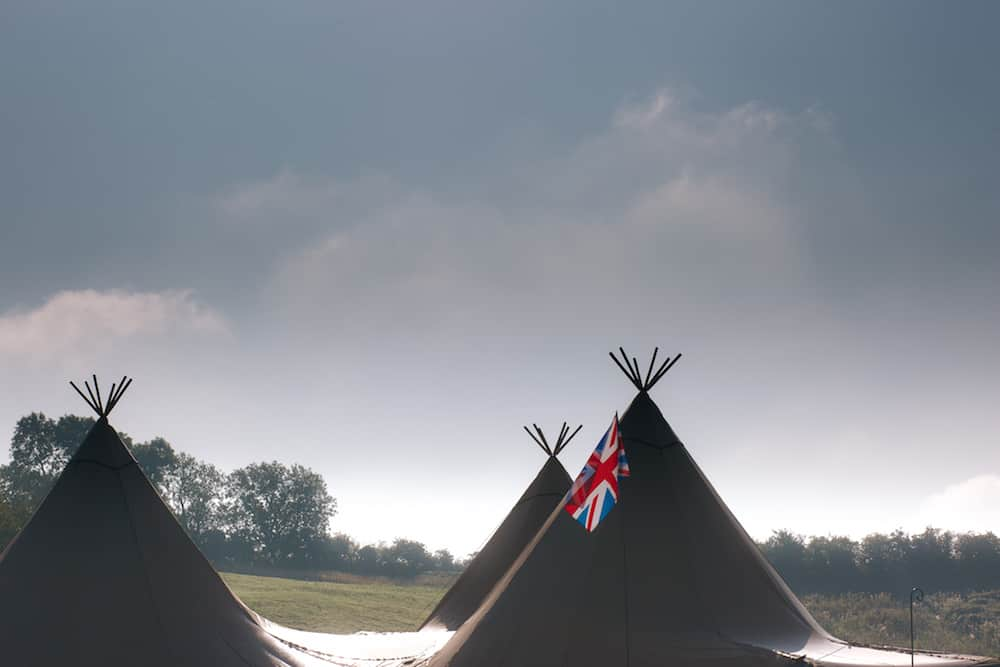 Tipi Peaks - Sami Tipi Wedding - Image by Kathryn Edwards