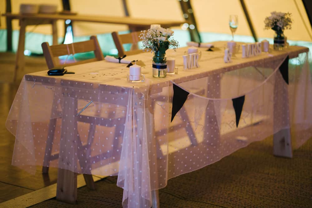 Top Table - Sami Tipi Wedding - Image by Kathryn Edwards